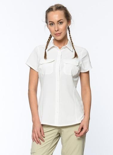 Columbia Kısa Kollu Gömlek Beyaz